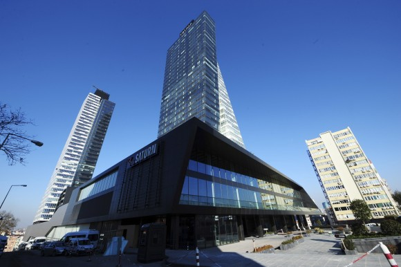 Trump Towers center in Istanbul pictured on Feb. 20, 2012. Security experts warn that businesses around the world bearing U.S. President Donald Trump's name face an increased risk now that the businessman is in the White House. (AP Photo/Emrah Gurel)