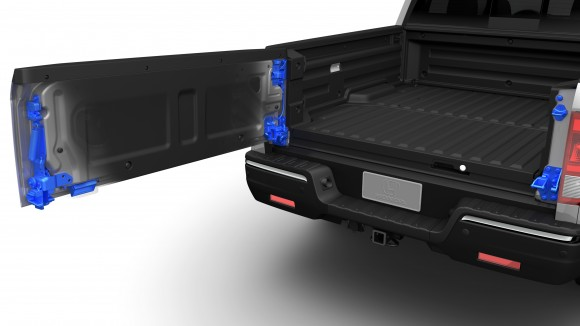 The dual-action tailgate. (Courtesy of Honda)