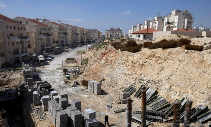 A general view of a construction site in the West Bank Jewish settlement of Modiin Illit. B'tselem. (AP Photo/Oded Balilty, File)