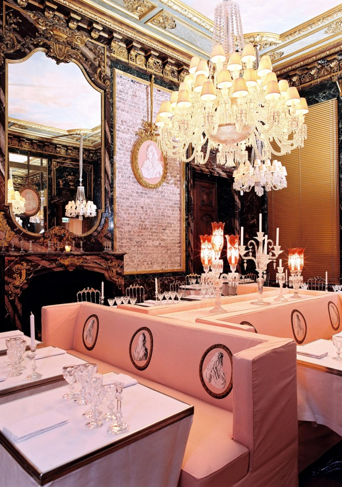 Restaurant Cristal Room at Musée Baccarat. (Courtesy Baccarat)