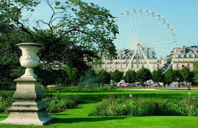 La Grande Roue, the 70-metre-high ferris wheel in the Tuileries Gardens at Place de la Concorde. (David Lefranc)