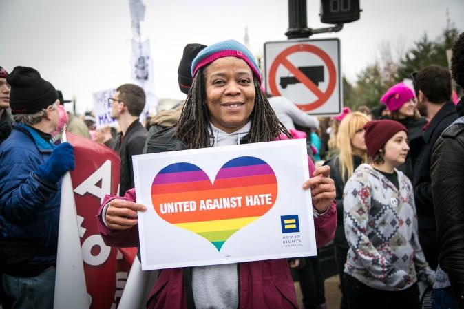 Kym-Kisha Nixon Baltimore from Baltimore at the Woman's March on Washington on Jan. 21. (Benjamin Chasteen/Epoch Times)