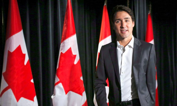 Prime Minister Justin Trudeau arrives at a Liberal cabinet retreat in Calgary on Jan. 24, 2017. Trudeau said after the retreat that if Keystone XL goes ahead it would benefit the Canadian economy. (The Canadian Press/Jeff McIntosh)