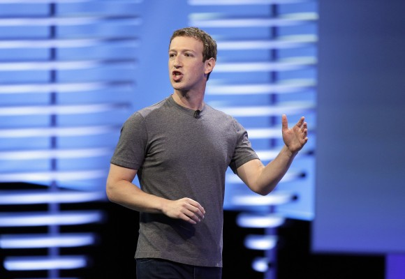 In this file photo, Facebook CEO Mark Zuckerberg delivers the keynote address at the F8 Facebook Developer Conference in San Francisco, on April 12, 2016. (AP Photo/Eric Risberg)
