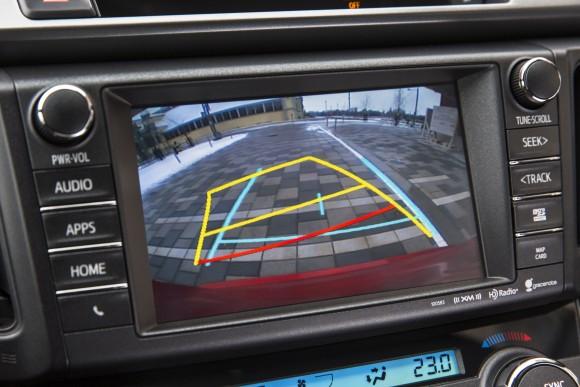 Toyota RAV4 Back up screen view (Courtesy of David Taylor)