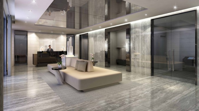 Rendering of the Valleymede Towers lobby.  (Courtesy Times Group)