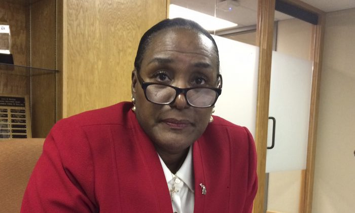 Talent Investment Agency Director Wanda Stokes is interviewed in Lansing, Mich., on Friday, Jan. 27, 2017. (AP Photo/David Eggert)