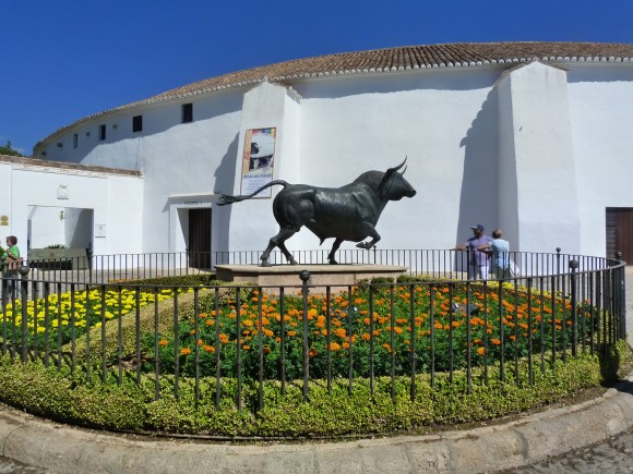 Exterior of the bullring in Ronda. (Manos Angelakis)