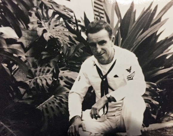 This circa 1943 photo provided by the Hartle family shows Navy diver Ken Hartle in Pearl Harbor, Hawaii. (Courtesy Hartle Family via AP)