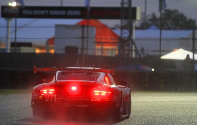 Fred Makowiecki in the #91 Porsche GT Team 911 RSR was third in GT Le Mans. (Chris Jasurek/Epoch Times)