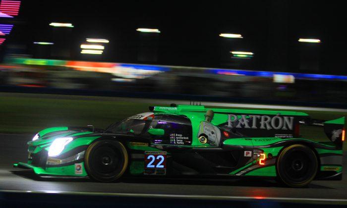 Brendan Hartley wrecked the #22 ESM Nissan DPi 14 hours into the Rolex 24. (Chris Jasurek/Epoch Times)