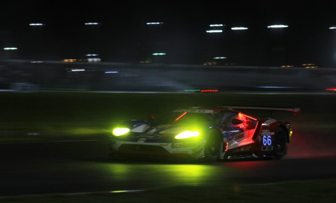 The #66 Ford0Ganassi Ford GT retained the lead in GTLM. (Chris Jasurek/Epoch Times)
