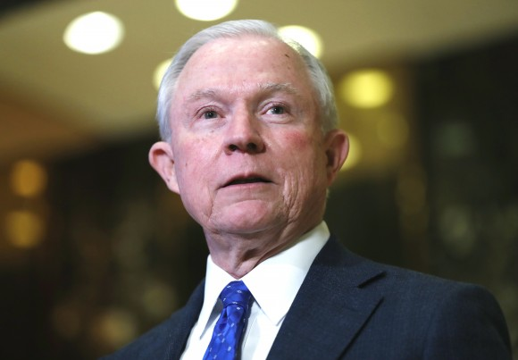 Sen. Jeff Sessions (R-Ala.) speaks to media at Trump Tower in New York on Nov. 17, 2016. President-elect Donald Trump has picked Sessions for the job of attorney general. (AP Photo/Carolyn Kaster)