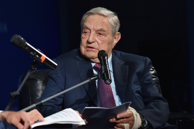 George Soros attends his Soros Fund Management and the Open Society Foundations in New York on Sept. 20, 2016. (Bryan Bedder/Getty Images for Concordia Summit)