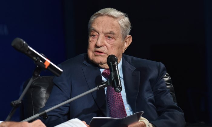 George Soros in New York on Sept. 20, 2016. (Bryan Bedder/Getty Images for Concordia Summit)