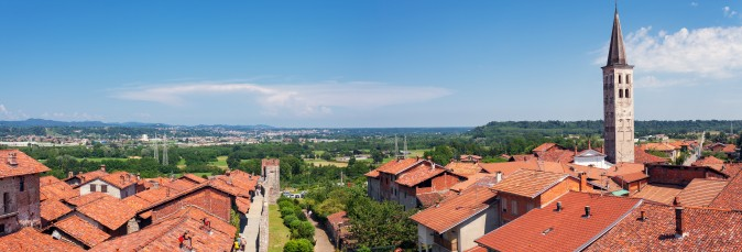 A view of the Italian province of Biella, which still has the remains of ancient churches and villages that were part of the Via Francigena, a route for pilgrims that historically connected Rome to France and England. (Steve Sidepiece/Shutterstock)