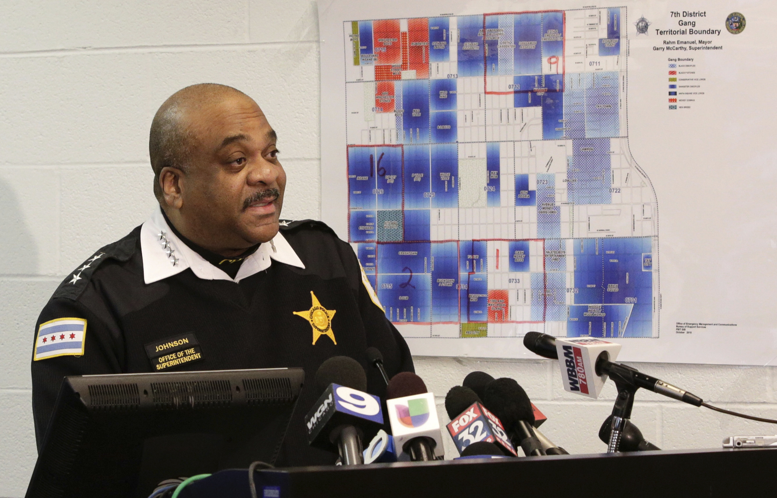 Chicago Police Superintendent Eddie Johnson at a news conference  in Chicago on Feb. 1, 2017. (AP Photo/Teresa Crawford)