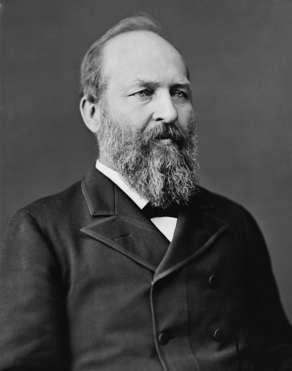 In the last months of his life, President Garfield famously destroyed many personal and political documents. (Library of Congress Prints and Photographs Division)