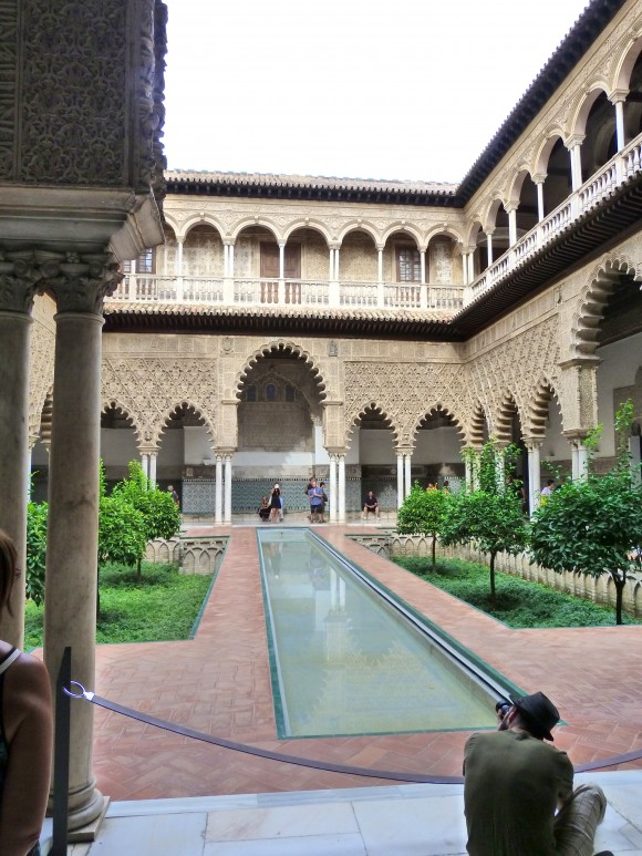 Courtyard at the Alcázar in Seville. (Manos Angelakis)