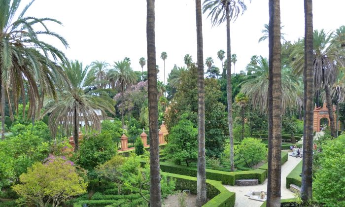 The gardens at the Alcázar in Seville. (Manos Angelakis)