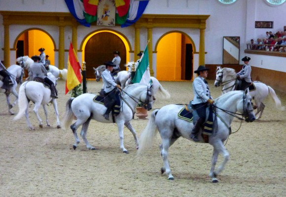 A show at the Royal Andalusian School of Equestrian Art. (Manos Angelakis)