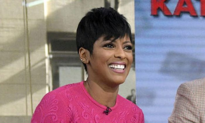 """This Sept. 26, 2016 photo released by NBC shows """"Today"""" anchor Tamron Hall on the set in New York.   (Peter Kramer/NBC via AP)"""