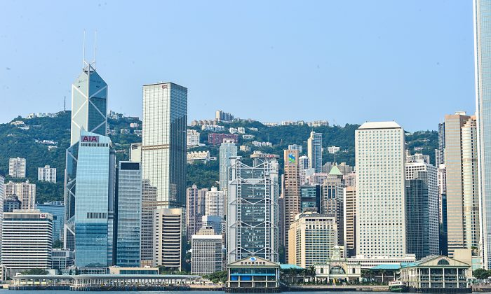 View of Central Hong Kong from Kowloon Aug 1, 2014. (epoch times)