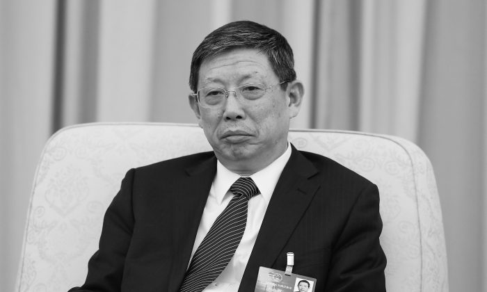 Former Shanghai Mayor Yang Xiong at the Great Hall of the People in Beijing on Mar. 6, 2016. Yang resigned his post on Jan. 17. (Lintao Zhang/Getty Images)