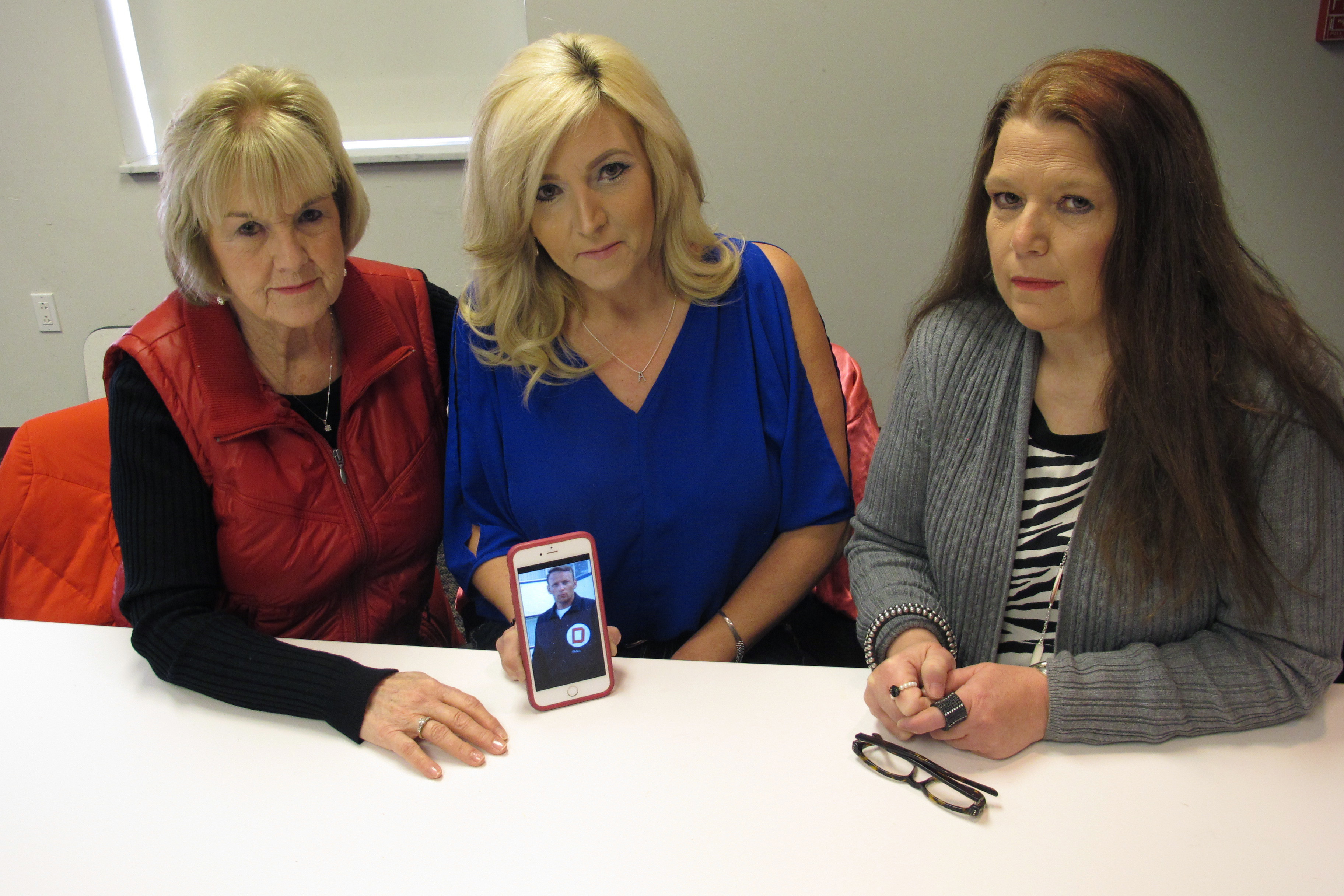(L-R) Becky Cooper the ex-wife of former Columbus police Officer Niki