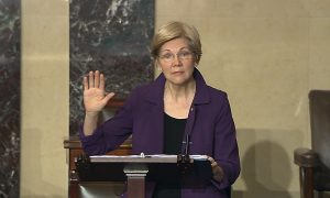 Elizabeth Warren Wants Health Protections, Higher Pay for Essential Workers