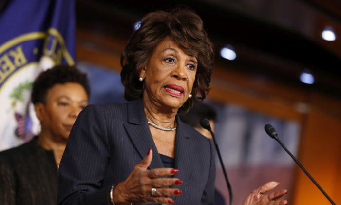 Rep. Maxine Waters (D-Calif.) speaks at a press conference on Capitol Hill in Washington, on Jan. 31, 2017. (Aaron P. Bernstein/Getty Images)