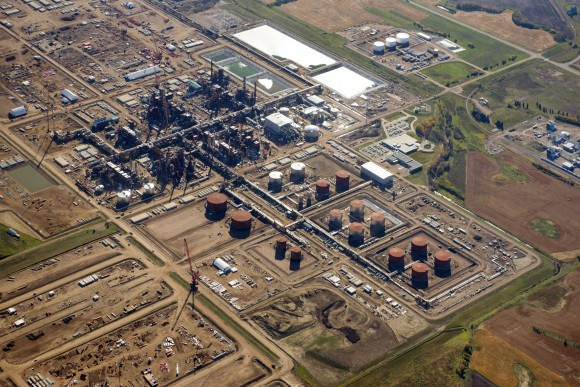 Aerial view of the North West Redwater Sturgeon Refinery. (Courtesy of North West Redwater)