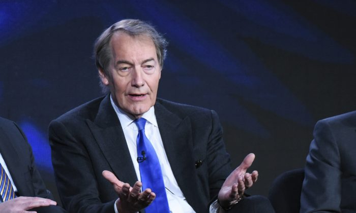 """Charlie Rose participates in the """"CBS This Morning"""" panel at the CBS 2016 Winter TCA in Pasadena, Calif., on  Jan. 12, 2016. (Richard Shotwell/Invision/AP)"""