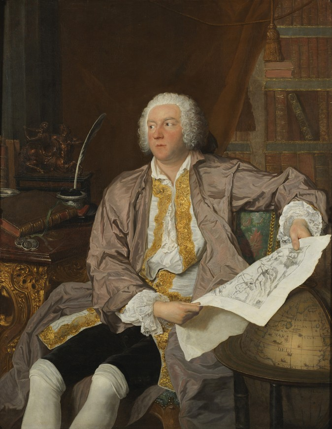 """""""Portrait of Count Carl Gustaf Tessin,"""" 1740, by Jacques-André-Joseph Aved. Oil on canvas. (Nationalmuseum of Sweden)"""