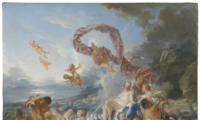 """""""The Triumph of Venus,""""  1740, by François Boucher (French, 1703–1770). Oil on canvas. (Nationalmuseum of Sweden)"""