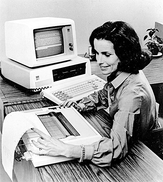An IBM PC in August 1981. IBM once dominated the PC market but fell behind Compaq and Dell in the 1980s after those firms outsourced production to Taiwan. (AP Photo)