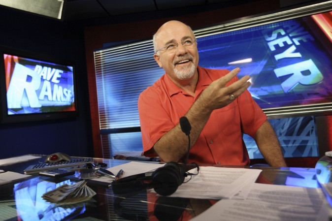 Dave Ramsey in his broadcasting studio in Brentwood, Tenn., on July 29, 2009. (AP Photo/Josh Anderson)