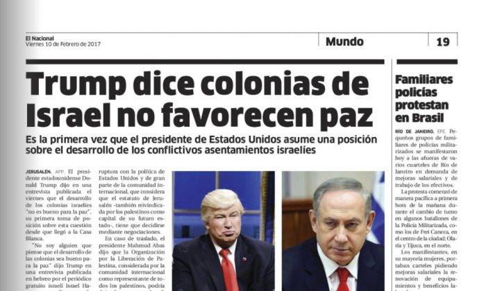Digitized version of Dominican Republic's El Nacional print edition on  Feb. 10, 2017. (El Nacional via AP)