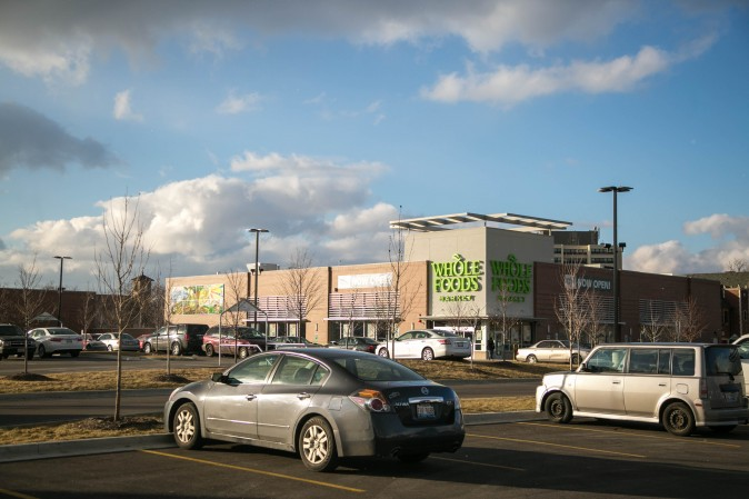A brand new Whole Foods Market in Englewood, Chicago, on Feb. 1, 2017. Twice a week this Whole Foods has been donating food to families in the community. (Benjamin Chasteen/Epoch Times)