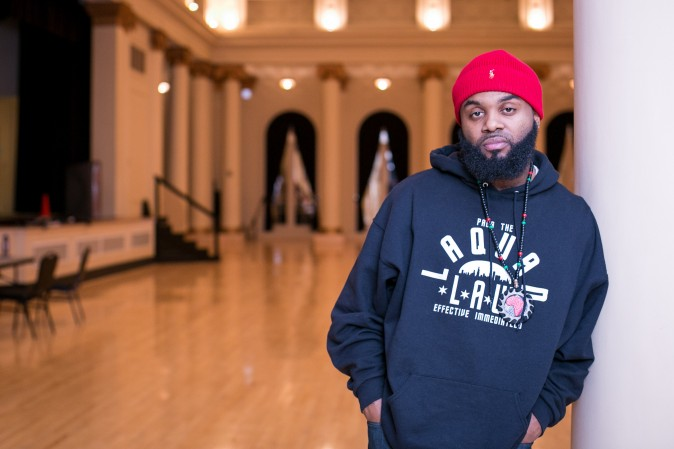 William Calloway, who was directly responsible for the release of the Chicago police tape of the shooting of Laquan McDonald. Calloway is preparing to host an event at the South Shore Cultural Center in Chicago on Feb. 1, 2017. (Benjamin Chasteen/Epoch Times)