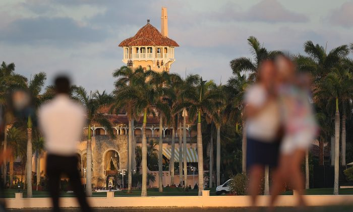 The Mar-a-Lago Resort is seen where President Donald Trump is hosting Japanese Prime Minister Shinzo Abe in West Palm Beach, Florida, on Feb. 11, 2017. The two are scheduled to get in a game of golf as well as discuss trade issues. (Joe Raedle/Getty Images)