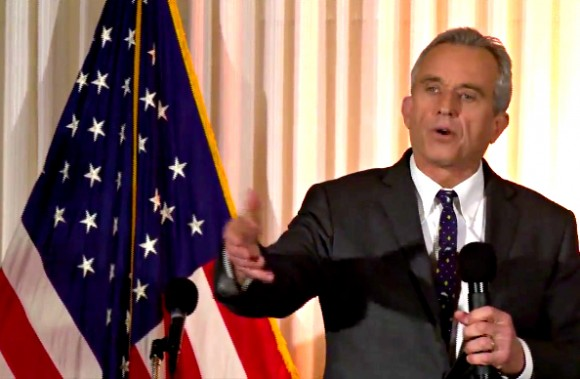 Robert Kennedy Jr. speaks at a press conference at the National Press Club in Washington D.C., February 15, 2017. (Screenshot)