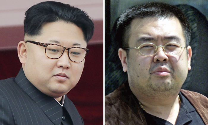 North Korean leader Kim Jong Un (L) on May 10, 2016, in Pyongyang, North Korea, and Kim Jong Nam (R),the exiled half brother of Kim Jong Un, in Narita, Japan, on May 4, 2001. (Wong Maye-E, Shizuo Kambayashi/AP Photos)