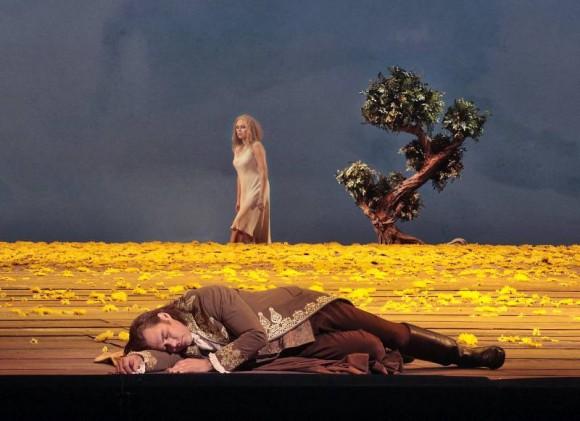 Kristine Opolais in the title role and Brandon Jovanovich as the Prince in Dvořák's Rusalka. (Ken Howard/ Metropolitan Opera)