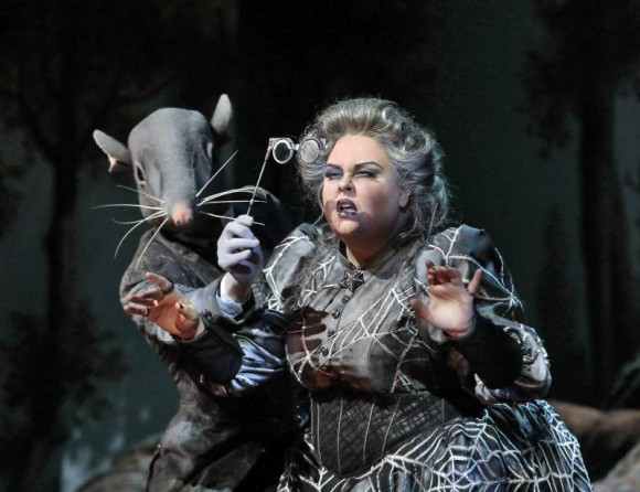 Jamie Barton as Ježibaba in Dvořák's Rusalka. (Ken Howard/ Metropolitan Opera)