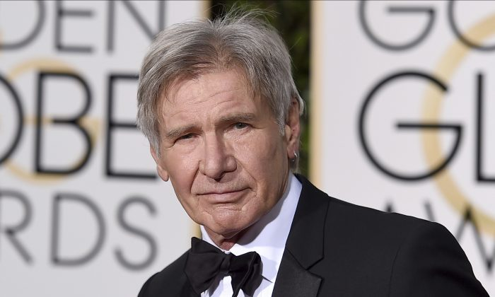 Harrison Ford arrives at the 73rd annual Golden Globe Awards in Beverly Hills, Calif. in this Jan. 10, 2016 file photo. (Jordan Strauss/Invision/AP, File)