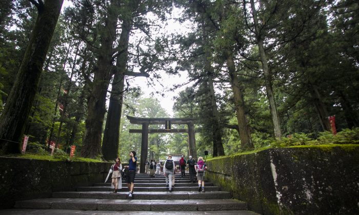 Stairs leading to Toshogu Shrine in Nikko, Japan. (Annie Wu/Epoch Times)