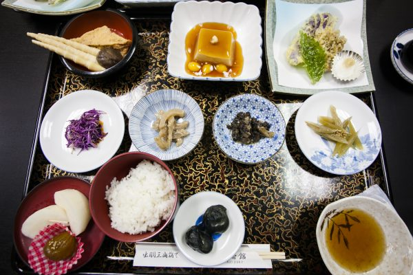 Monks at the Mount Haguro shrine transform local vegetables into a variety of dishes. (Annie Wu/Epoch Times)