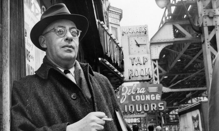 Saul Alinsky, a professional organizer, is shown in this photo dated Feb. 20, 1966, on Chicago's south side. (AP Photo)