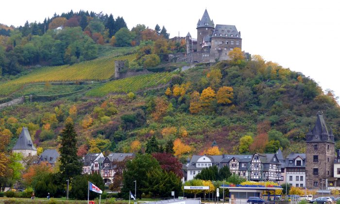 A castle overlooking the River Rhine. The Upper Middle Rhine Valley is designated a UNESCO World Heritage Site for its castle-dotted landscape and elegant scenery. (Barbara Angelakis)